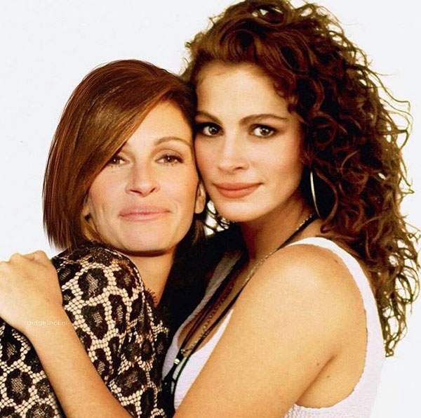 celebs with their younger self12 55 Photos of Celebs Hanging With Their Younger Selves