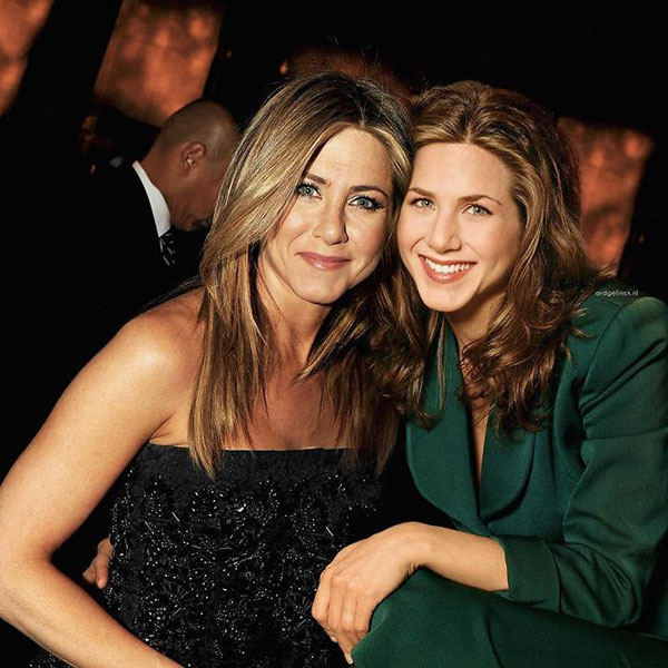 celebs with their younger self33 55 Photos of Celebs Hanging With Their Younger Selves