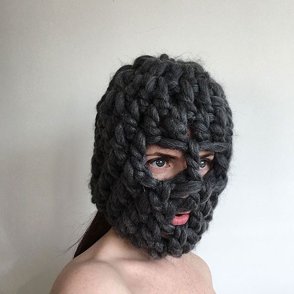 crochet masks by threadstories 12 Artist Crochets Balaclavas, Then Turns Them Into Wild Masks With Yarn