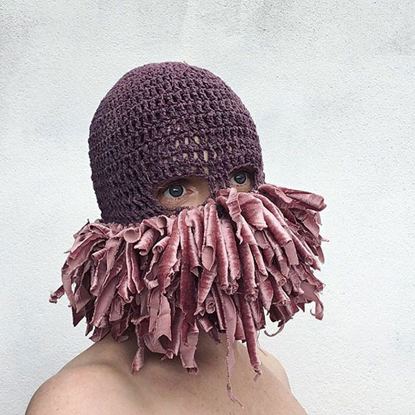 crochet masks by threadstories 13 Artist Crochets Balaclavas, Then Turns Them Into Wild Masks With Yarn