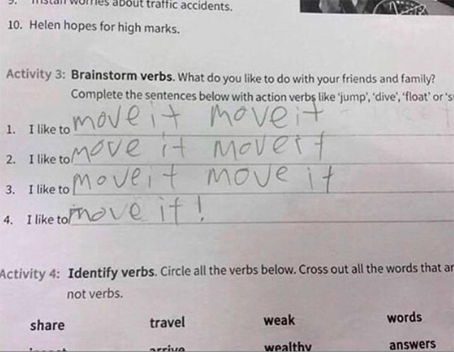 funny witty cheeky test answers 20 25 Inspired Test Answers That Show The Kids Are Going To Be Alright