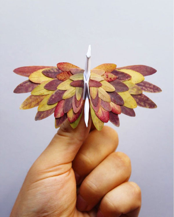 paper crane decorations by cristian marianciuc 4 Paper Artist Folds Cranes and Then Gives Them Intricate Decorations