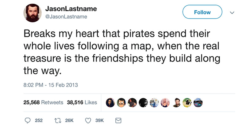 pirate treasure friendship tweet The Shirk Report   Volume 512