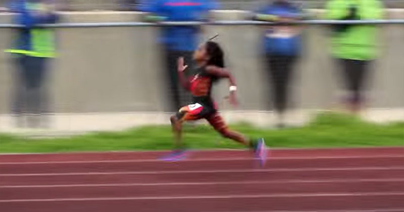 7-Year-Old Blaze Ingram Runs 13.76 second 100m Dash