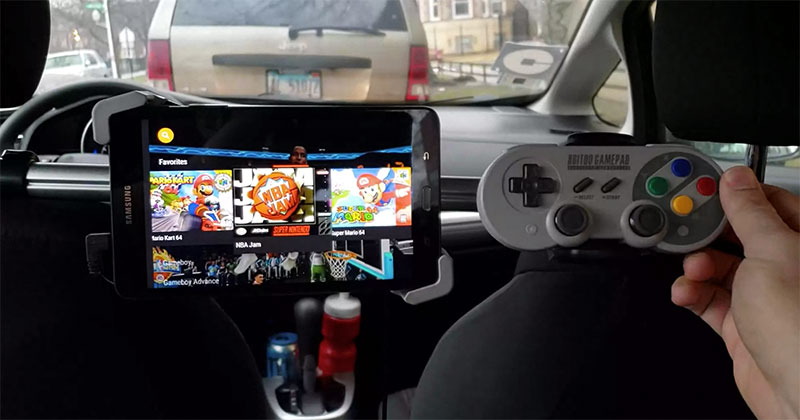 uber driver puts in gaming console for riders 5 Best Uber Ever? Driver Installs Gaming Console for Riders