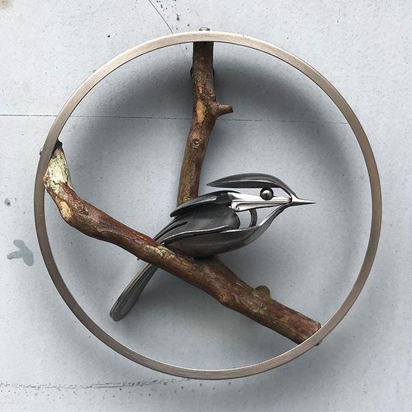utensil birds by matt wilson airtight artwork11 Matt Wilson Upcycles Old Utensils Into Beautiful Birds (23 Photos)