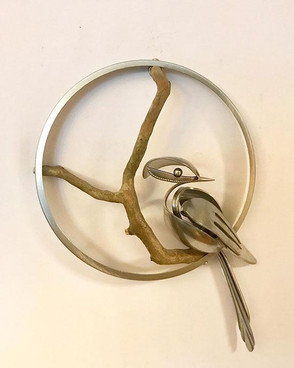 utensil birds by matt wilson airtight artwork14 Matt Wilson Upcycles Old Utensils Into Beautiful Birds (23 Photos)