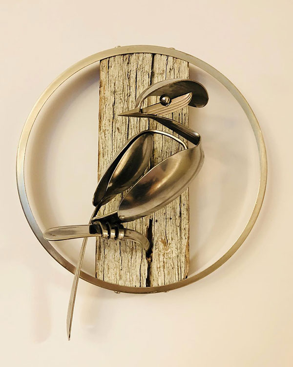 utensil birds by matt wilson airtight artwork15 Matt Wilson Upcycles Old Utensils Into Beautiful Birds (23 Photos)