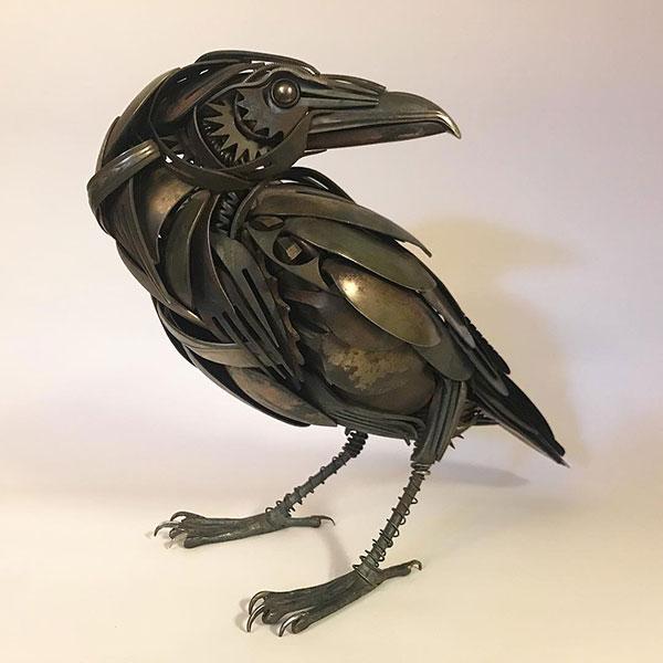 utensil birds by matt wilson airtight artwork20 Matt Wilson Upcycles Old Utensils Into Beautiful Birds (23 Photos)