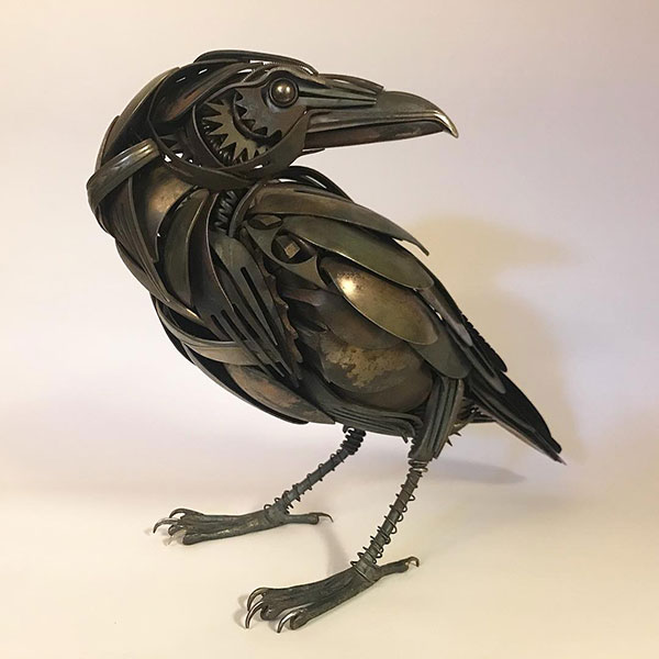 utensil birds by matt wilson airtight artwork20 Matt Wilson Upcycles Old Utensils Into Beautiful Birds (23 Photos)