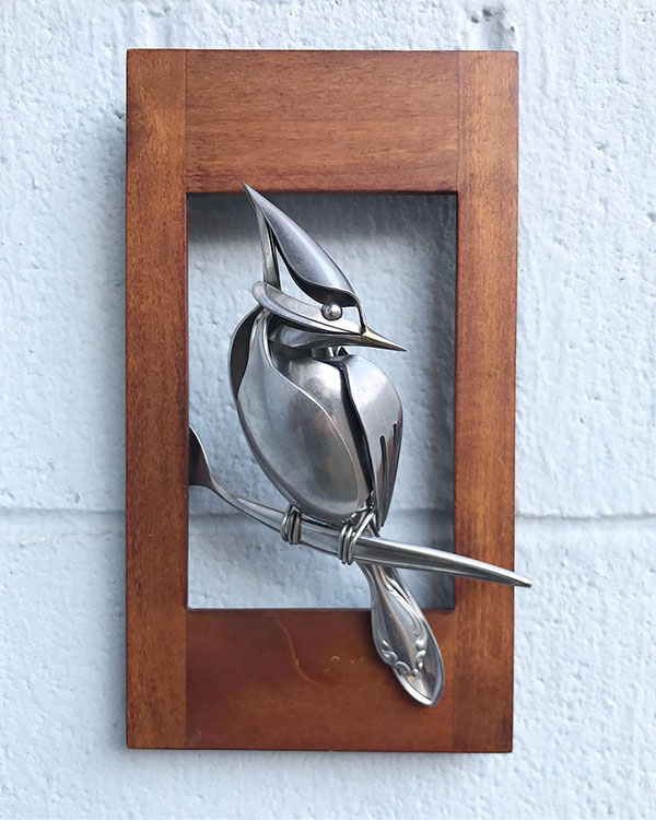 utensil birds by matt wilson airtight artwork21 Matt Wilson Upcycles Old Utensils Into Beautiful Birds (23 Photos)