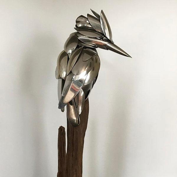 utensil birds by matt wilson airtight artwork4 Matt Wilson Upcycles Old Utensils Into Beautiful Birds (23 Photos)