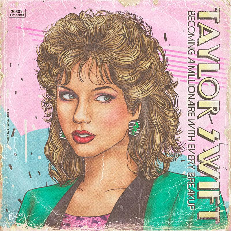 80s album covers of todays pop stars 13 These Retro 80s Album Covers of Todays Pop Stars are Totally Radical