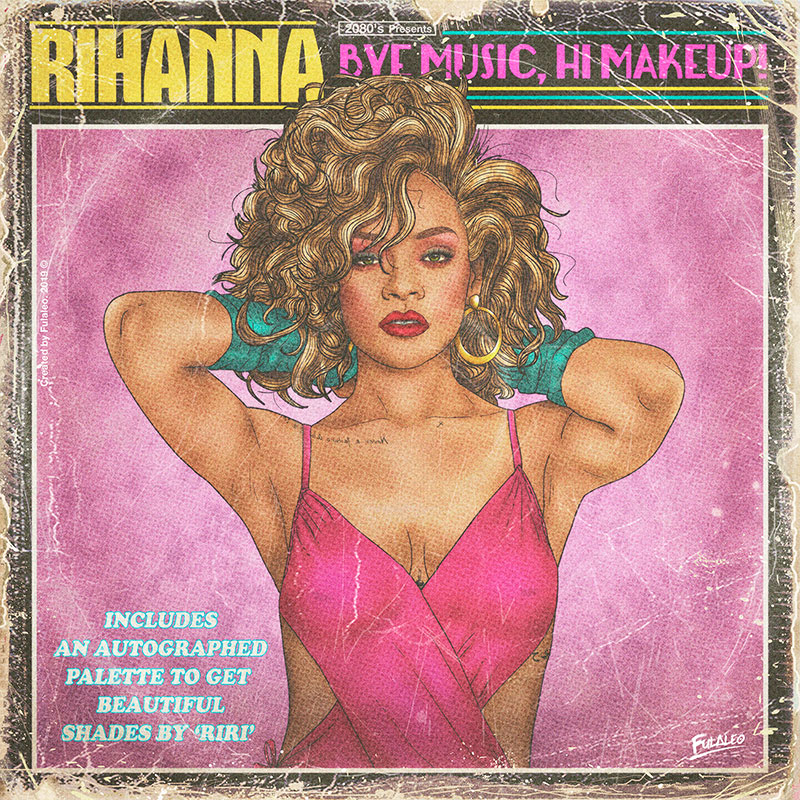 80s album covers of todays pop stars 8 These Retro 80s Album Covers of Todays Pop Stars are Totally Radical