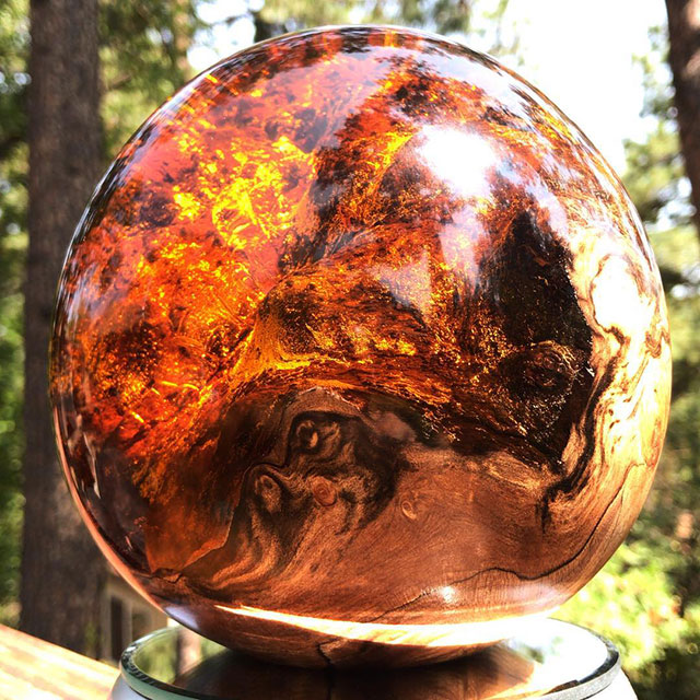 burl and resin sculptures by scott huebner 4 Beautiful Geometric Sculptures Cast From Burls Fused to Resin