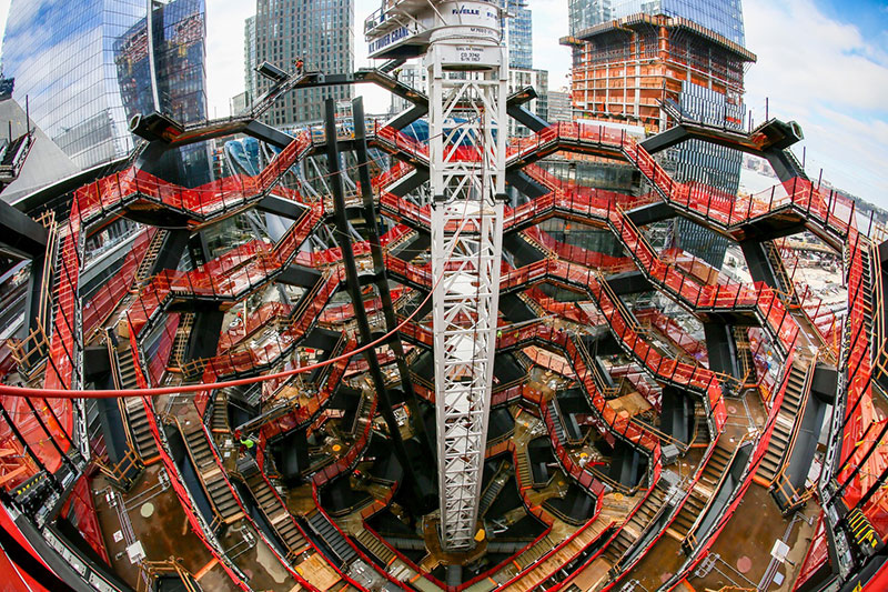 endless staircase in new york hudson yards vessel heatherwick 13 New Yorks Touristy New Public Space is a Giant Endless Staircase