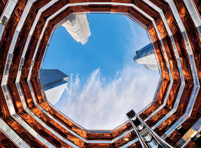 endless staircase in new york hudson yards vessel heatherwick 4 New Yorks Touristy New Public Space is a Giant Endless Staircase