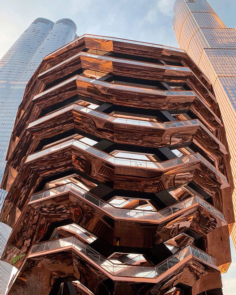 endless staircase in new york hudson yards vessel heatherwick 8 New Yorks Touristy New Public Space is a Giant Endless Staircase
