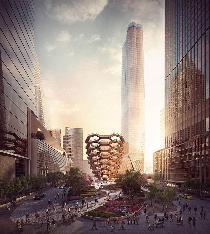 endless staircase in new york hudson yards vessel heatherwick 9 New Yorks Touristy New Public Space is a Giant Endless Staircase