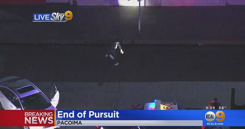 Suspect Ends High Speed Pursuit With Questionable Dance Routine