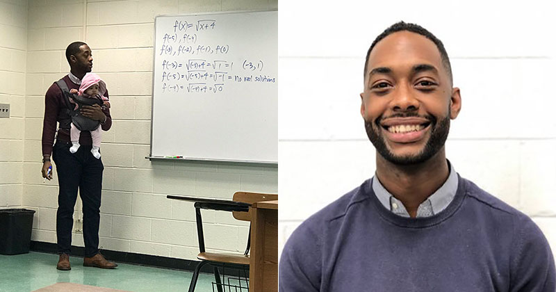 Teacher Goes Viral After Holding Student's Baby So They Could TakeNotes