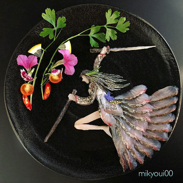 this chef plates the most beautiful sashimi art ive seen mikyou instagram 1 This Chef Plates the Most Beautiful Sashimi Art Ive Seen