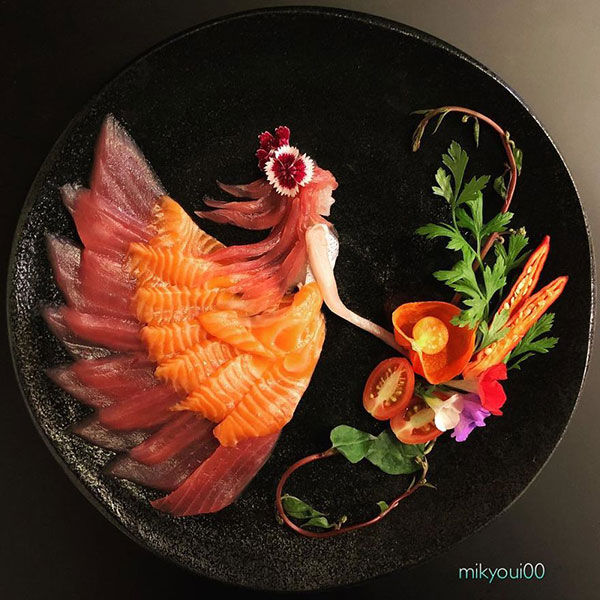 this chef plates the most beautiful sashimi art ive seen mikyou instagram 11 This Chef Plates the Most Beautiful Sashimi Art Ive Seen