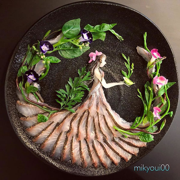 this chef plates the most beautiful sashimi art ive seen mikyou instagram 13 This Chef Plates the Most Beautiful Sashimi Art Ive Seen