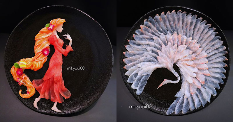 This Chef Plates the Most Beautiful Sashimi Art I've Seen