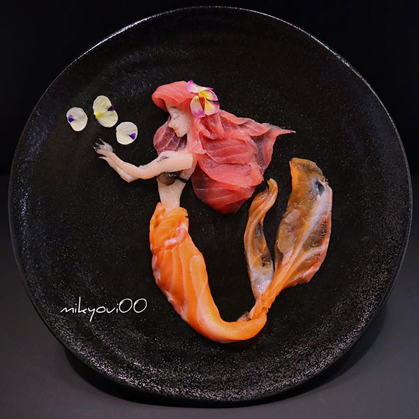 this chef plates the most beautiful sashimi art ive seen mikyou instagram 3 This Chef Plates the Most Beautiful Sashimi Art Ive Seen