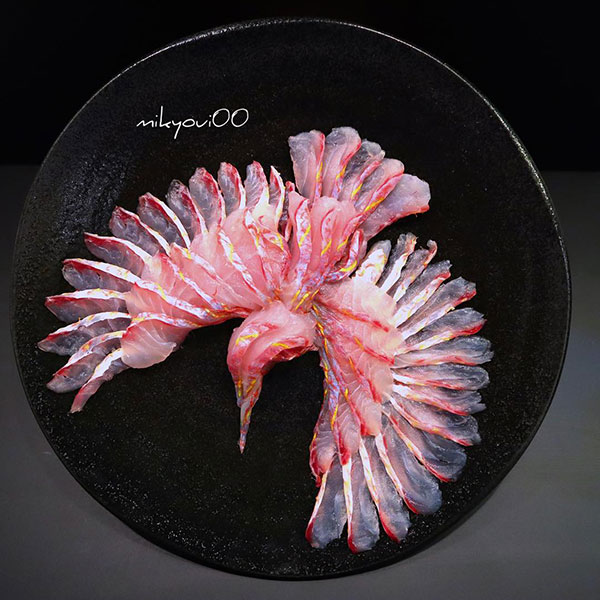 this chef plates the most beautiful sashimi art ive seen mikyou instagram 4 This Chef Plates the Most Beautiful Sashimi Art Ive Seen