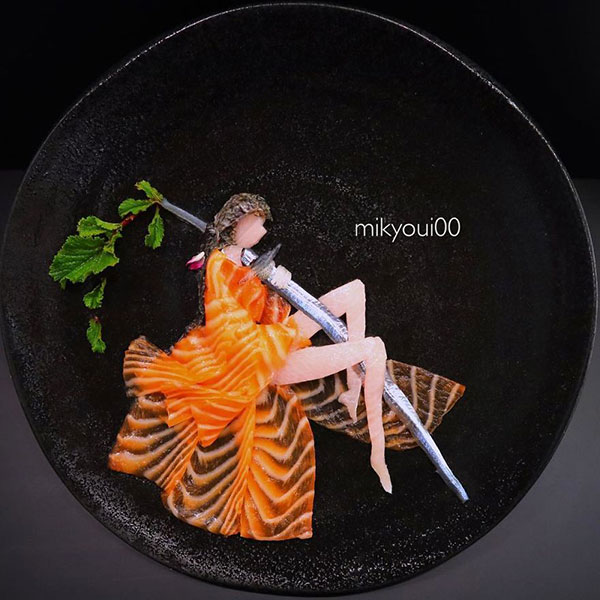 this chef plates the most beautiful sashimi art ive seen mikyou instagram 7 This Chef Plates the Most Beautiful Sashimi Art Ive Seen