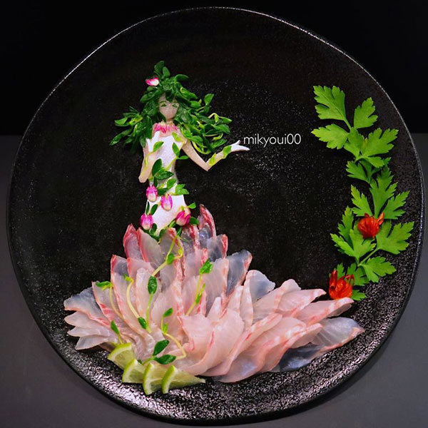 this chef plates the most beautiful sashimi art ive seen mikyou instagram 9 This Chef Plates the Most Beautiful Sashimi Art Ive Seen