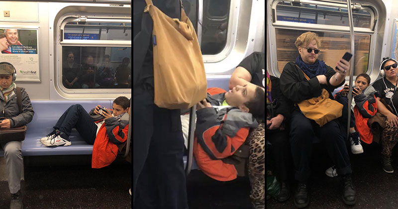 This Kid Refused to Move His Legs So This Guy Just Sat on Them