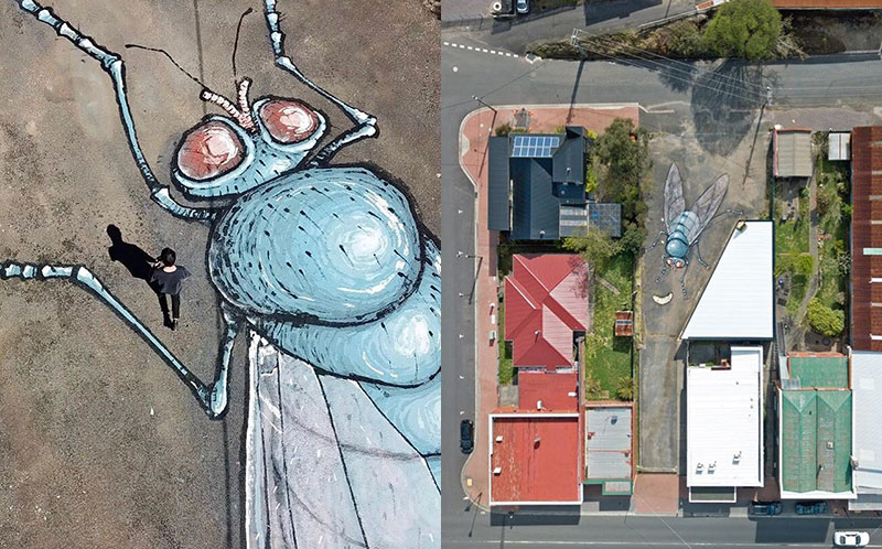 giant murals by kitt bennett10 Imagine Working in a High Rise and Seeing These On the Ground