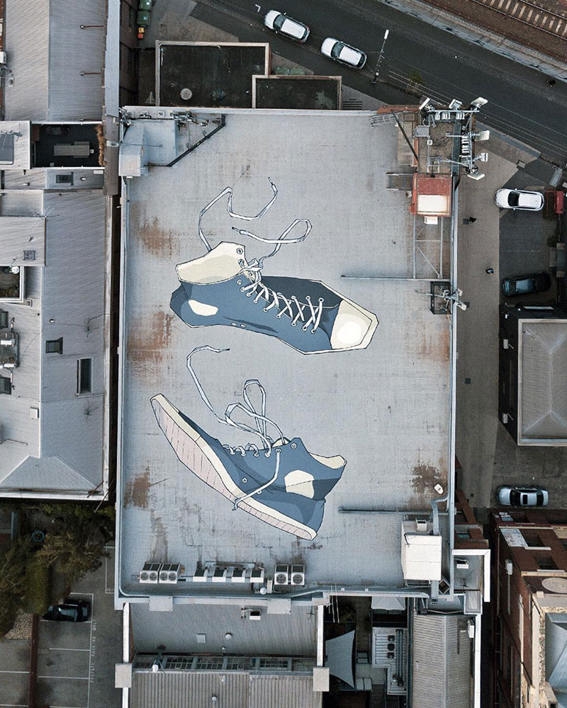 giant murals by kitt bennett8 Imagine Working in a High Rise and Seeing These On the Ground