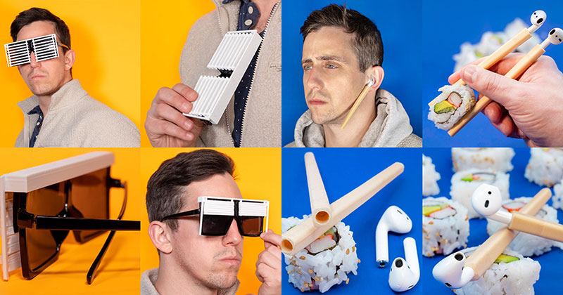 Guy Designs Funny, Useless Products To Solve Problems That Don't Exist