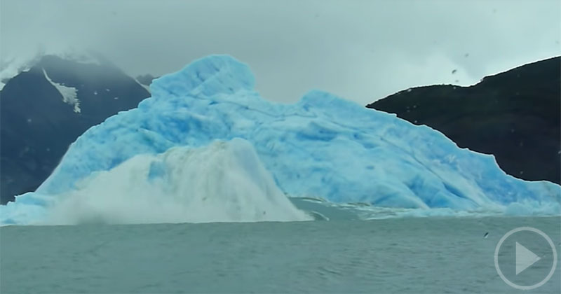 Just a Giant Iceberg Flipping Over