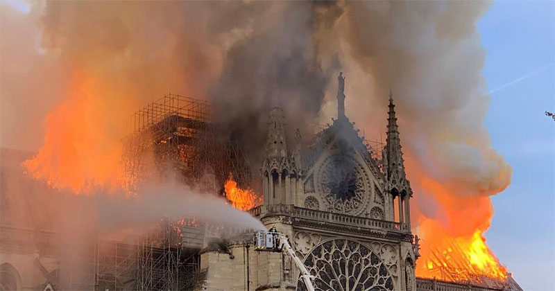 notre dame in flames paris Notre Dames In Flames and the Videos Are Heartbreaking