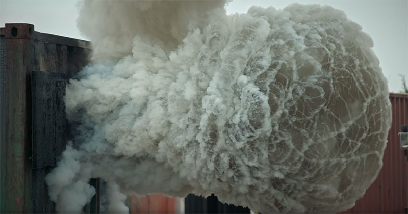 What a Backdraft Looks Like in 4K Slow Motion