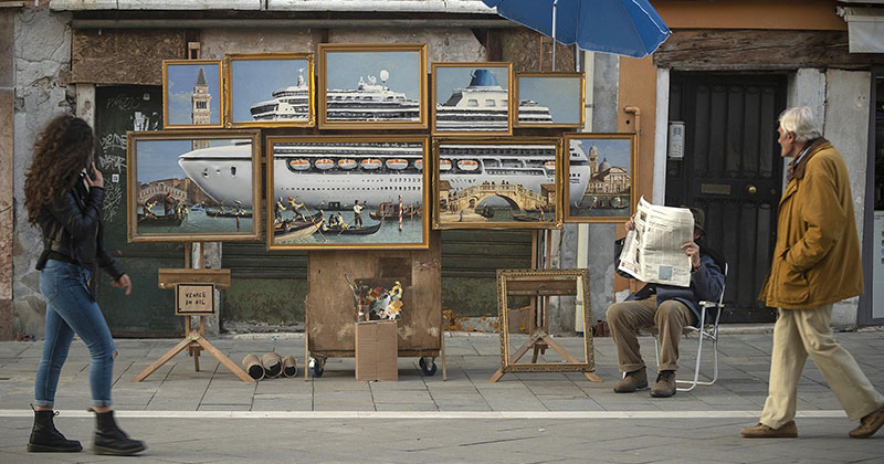 Banksy Crashes the VeniceBiennale