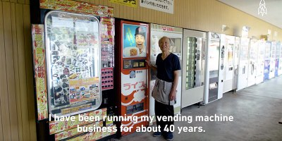 Japanese Farmer Grows His Own Rice For His Lone Curry VendingMachine