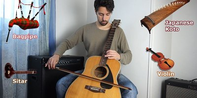 Imitating Instruments on a Guitar Without Pedals or SpecialEffects