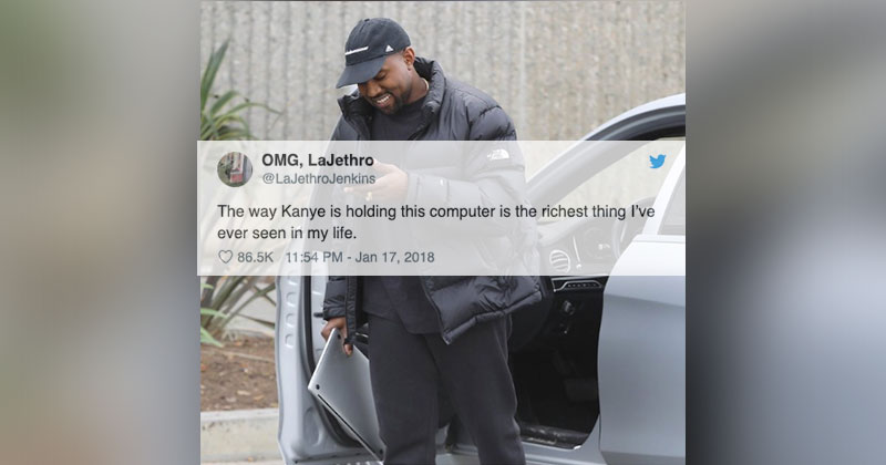 the way kanye holding this computer The Shirk Report   Volume 525
