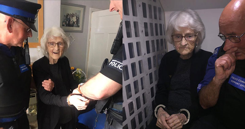93 year old granny josiee28099s dying wish to be arrested just once gets granted 2 93 Year Old Granny Josie's Dying Wish to Be Arrested Just Once Gets Granted