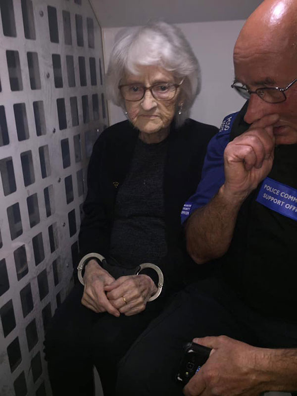 93 year old granny josiee28099s dying wish to be arrested just once gets granted 3 93 Year Old Granny Josie's Dying Wish to Be Arrested Just Once Gets Granted