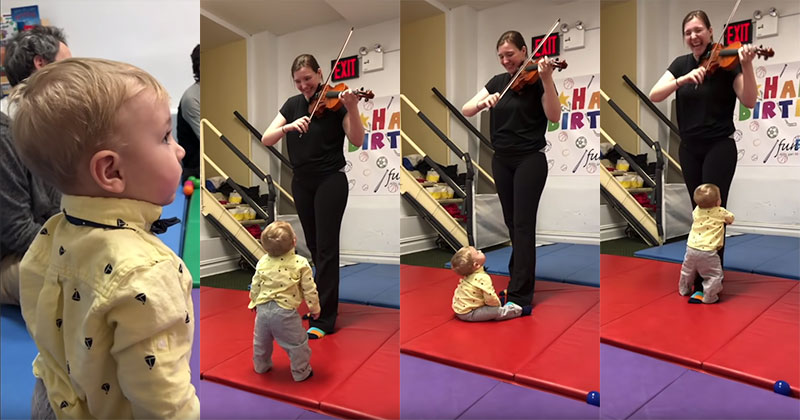 This Baby's Reaction to Hearing a Violin for the First Time Made MyDay
