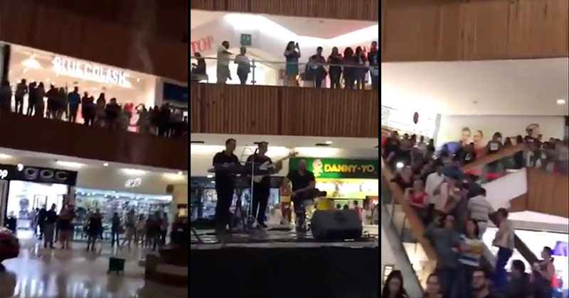 A Mall in Mexico Started Flooding So the Band Played the Titanic ThemeSong