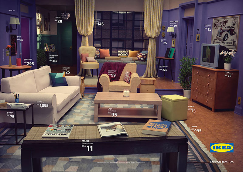 famous tv living rooms recreated with ikea furniture 6 Famous TV Living Rooms Recreated Entirely With Ikea Furniture
