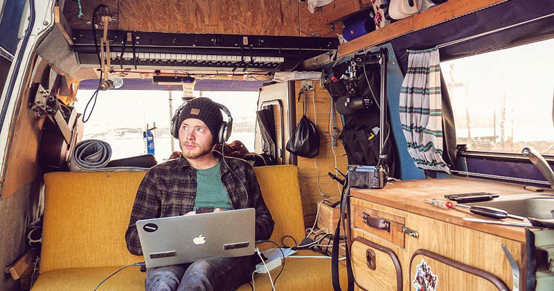 Guy Turns Van Into Mobile Studio and Goes in Search of Europe's Best StreetMusicians